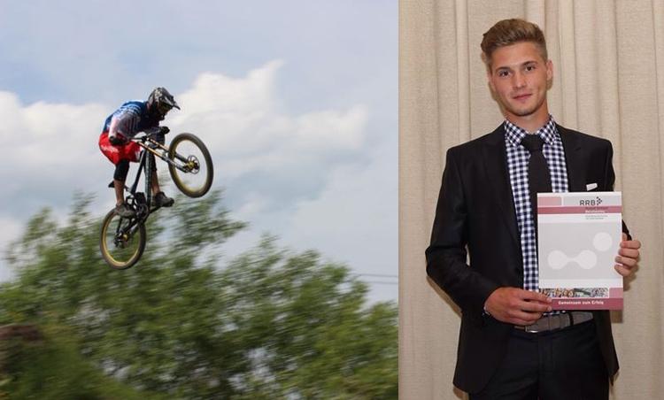 Marc Zimmermann IK-Pictures beim Training und mit seinem Abschluss