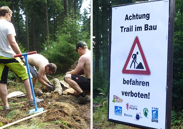 Der Trail befindet sich immer noch im Bau und darf noch nicht befahren werden!