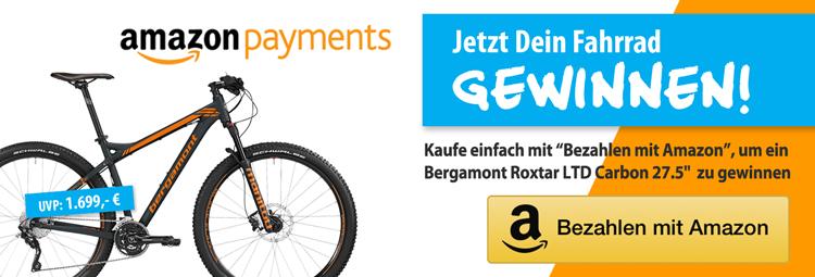 Zahle mit Amazon Payments und gewinne ein Mountainbike von Bergamont