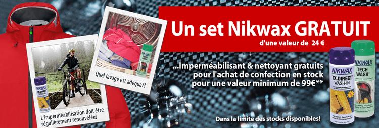 Un set Nikwax gratuit pour lachat de vêtements pour le cyclisme