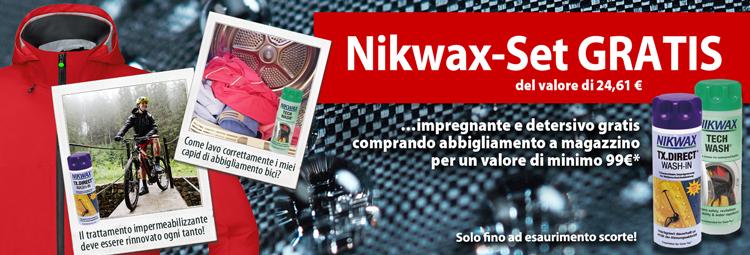 Nikwax-Set gratis comprando abbigliamento bici