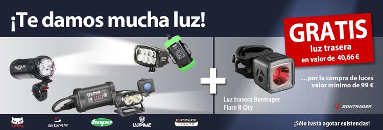 Gratis luz trasera Bontrager por la compra de luces para bici