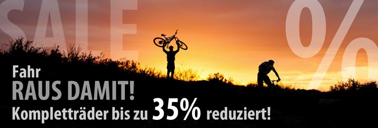 Bike Sale: Kompletträder bis zu 35% reduziert