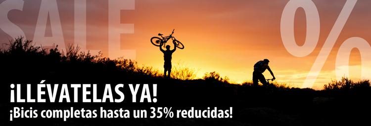 Bicis completas reducidas hasta un 35%