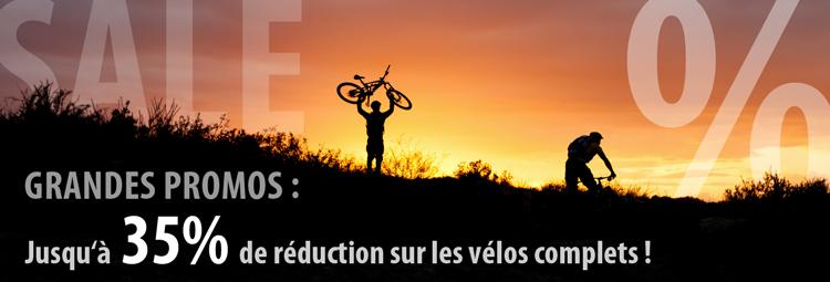 Jusqu à 35% de réduction sur les vélos
