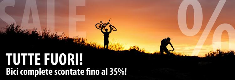 Bici complete scontate del 35%