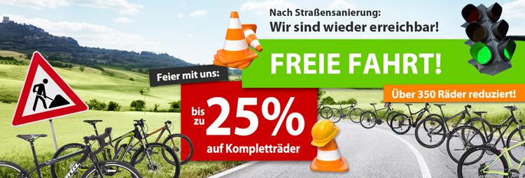Bis zu 25% Rabatt auf Kompletträder