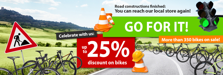 Up to 25% discount on bikes