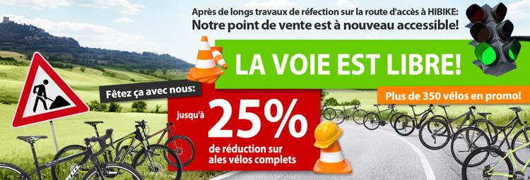 Jusqu à 25% de réduction sur les vélos
