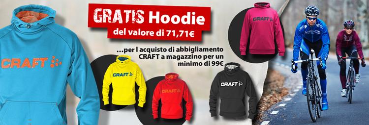 Assicurati uno Hoodie della Craft gratis