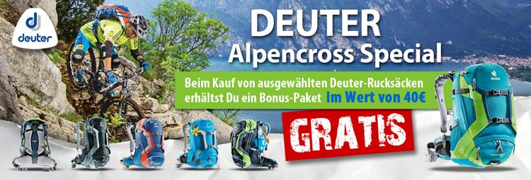 Alpencross-Special: Gratis Bonus-Paket zu Deinem Deuter-Rucksack