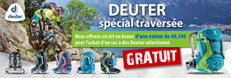 Offre spéciale traversée des Alpes: Un kit de survie gratuit pour l achat un sac à dos Deuter