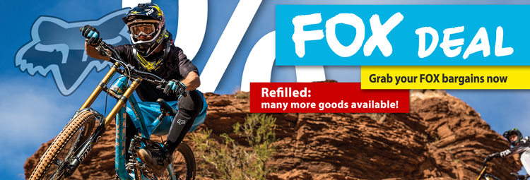 FOX casual wear and bike wear on sale