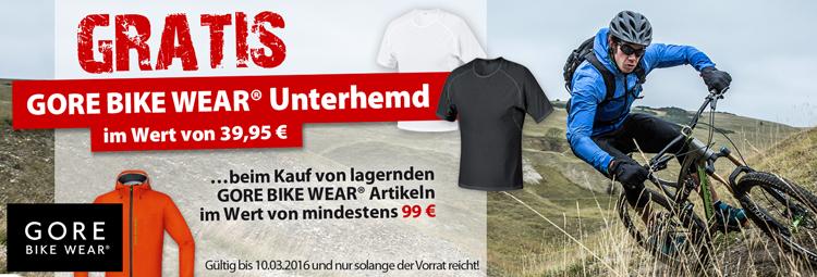 Gratis Gore Bike Wear Unterhemd beim Kauf von lagernden Gore Bike Wear-Artikeln