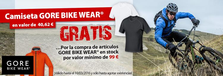 Obtén gratis una camiseta Gore Bike Wear por la compra de artículos Gore Bike Wear en stock