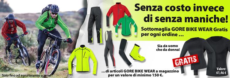 Gratis Sottomaglia Gore Bike Wear per il tuo ordine