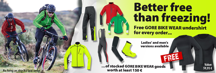 Free Gore Bike Wear undershirt for your order