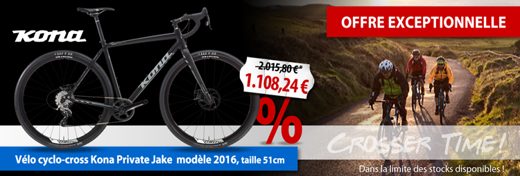 Offre exceptionnelle : cyclo-cross Kona Private Jake