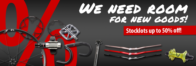 Save up to 50% on bike parts and accessories