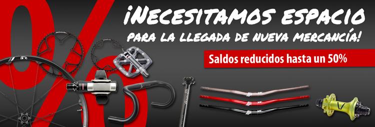 Comprar piezas bicicleta + accesorios hasta un 50% reducidos