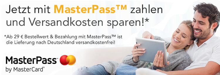 Mit MasterPass zahlen und Versandkosten sparen