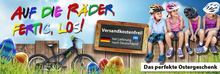 Kinderfahrräder zu Ostern verschenken