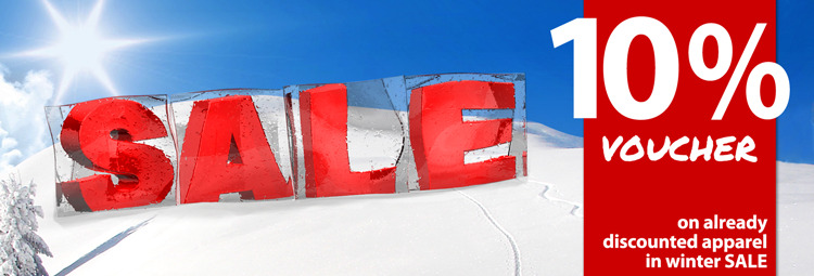 10% voucher for even more discount in our sale