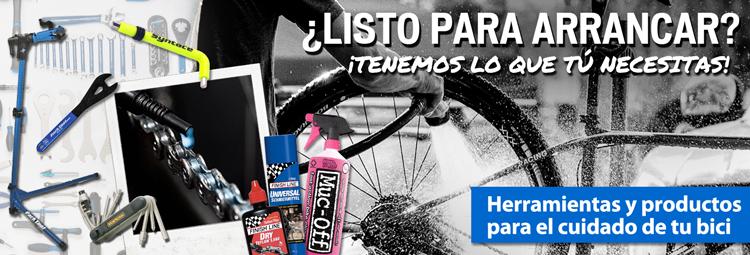 Herramientas y productos para el cuidado de tu bici