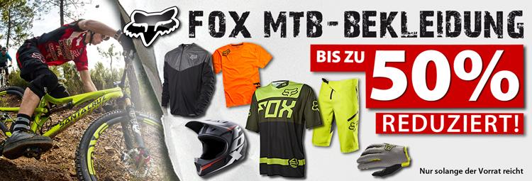 FOX MTB-Bekleidung bis zu 50% reduziert