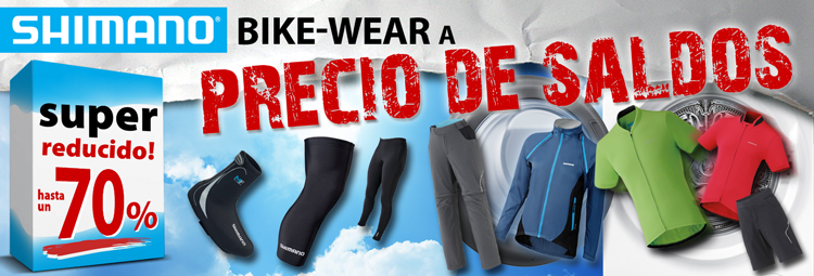 Shimano Bike-Wear reducido hasta en un 70%