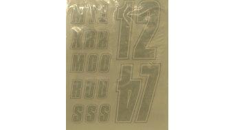 Fox Custom Jersey Lettering Kit tamaño S juego de pegatinas