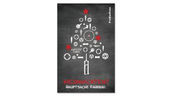 HIBIKE Weihnachts-Aufkleber Weihnachtsbaum Hauptsache Fahrrad.