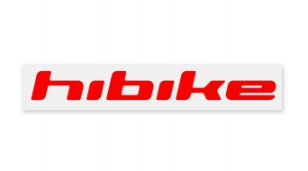 HIBIKE Schriftzug pegatina(-s) reflectante rojo(-a)