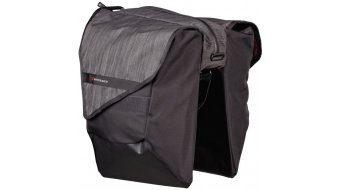 Bontrager Pannier City Double Throw bolso para rueda trasera negro/grey