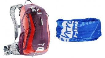 Deuter Race X mochila 12L aubergine/fire (sistema hidratación-compatible) incl. Buff® Original HIBIKE La bici. Lo principal Limited Edition pañuelo de cabeza