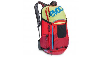 EVOC Freeride Tour Team 30L mochila con Anti-Impact sistema lime/rojo/ruby Mod. 2016