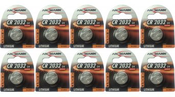 ANSMANN pila de litio 3 voltios CR 2032 (220mAh) 10 uds. juego Best before: 04/2025