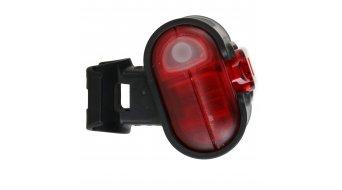 Busch & Müller IXON IQ LED-Lampe inkl. Ladegerät und 4 Akkus (2100mAh) inkl. Batterie-Rücklicht IXBACK senso rot/rote-LED