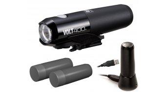 Cat Eye Volt 400 HL-EL461RC LED lighting system black (incl. 2x Akkus, helmet holder & Ladestation)