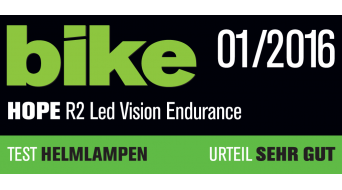 Hope R2 LED Beleuchtungssystem Endurance (inkl. 2x 4-Zellen-Akku mit Kapazitätsanzeige)