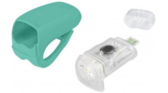 Knog Boomer USB LED Beleuchtung weiße LED / turquoise