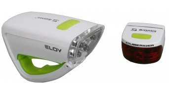 Sigma Sport Eloy/Cuberider Beleuchtungs-Set weiß