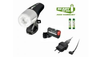 Sigma Sport Speedster/Hiro LED Beleuchtungs-Set schwarz