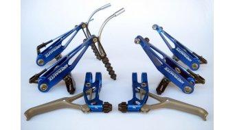 Extralite BrakeLevers-Kit V-Brake juego de frenos para rueda delantera y rueda trasera azul