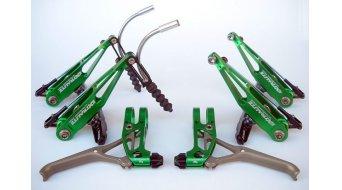 Extralite BrakeLevers- kit V-Brake freins set pour roue avant et roue arrière green