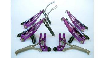 Extralite BrakeLevers-Kit V-Brake juego de frenos para rueda delantera y rueda trasera purple