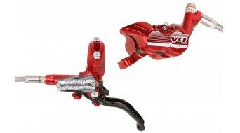 Hope Tech 3 V4 rojo Edition latiguillo flexible de acero juego de frenos de disco rueda (sin disco y adaptador)