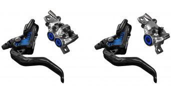 Magura MT Trail Carbon Carbotecture SL set freno a disco anteriore-PM/posteriore-PM di-sinistra/di-destra montierbar (senza disco e adattatore) nero/cromo mod. 2017