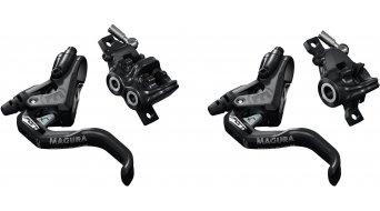 Magura MT Trail Sport Carbotecture 碟刹组 前轮-PM/后轮-PM 左/右 可安装的 (无 盘 & 转接件) 黑色/mystic grey 款型 2019