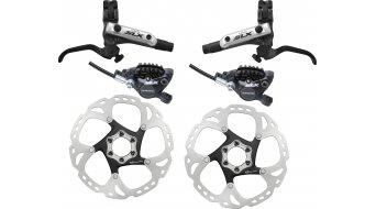 Shimano SLX Trail M675-B frenos de disco-juego rueda (F03C metal-capa)